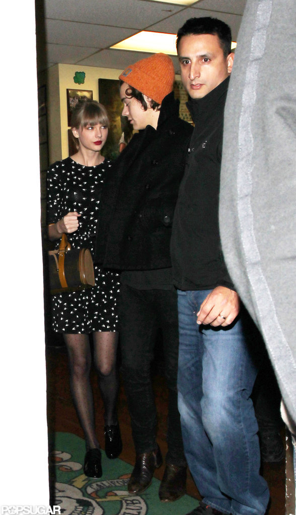 Harry Styles and Taylor Swift left the tattoo parlor.