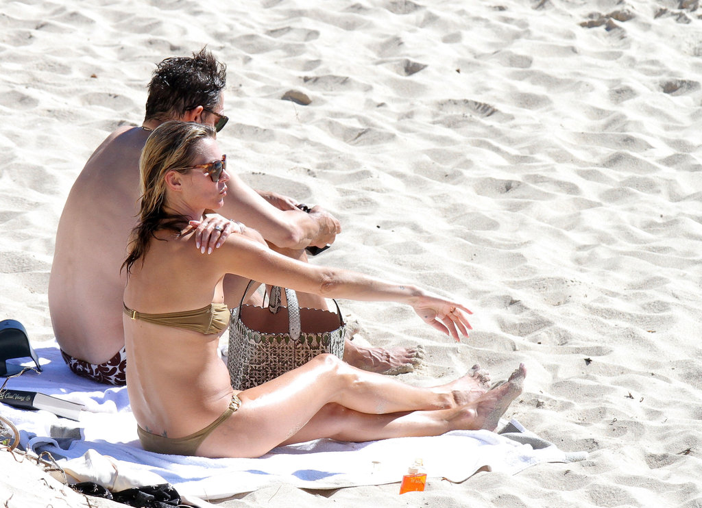 Kate Moss made sure to wear sunscreen.