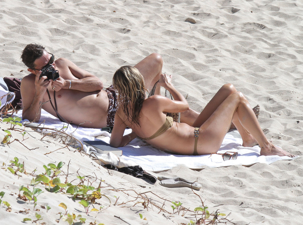 Kate Moss enjoyed relaxing with her husband.