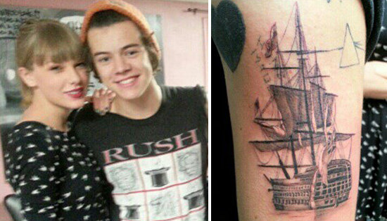 Video: Taylor Swift Takes Harry Styles to Get Inked