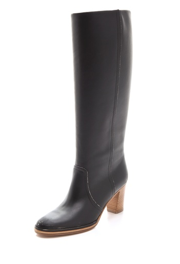 We especially dig the wooden heel on these Maison Martin Margiela knee boots ($398, originally $995).