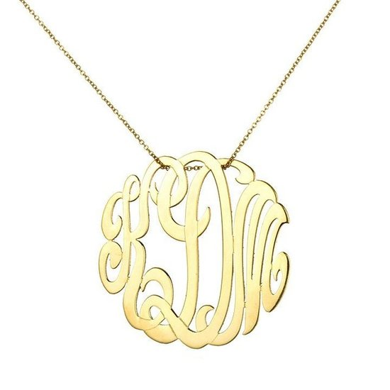 Ginette NY Lace Monogram Necklace