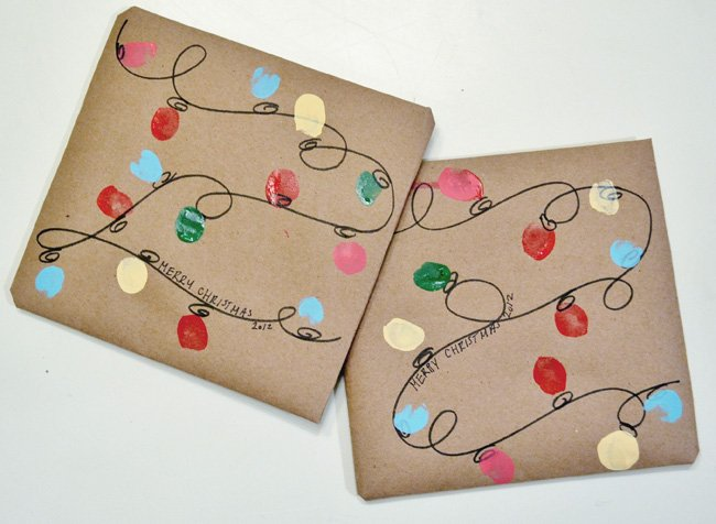 Thumbprint Christmas Lights