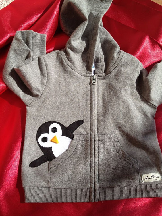 Oh La La Janie Penguin in My Pocket Hoodie