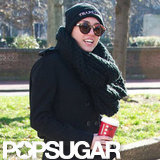 Miley Cyrus wore dark sunglasses and a beanie.