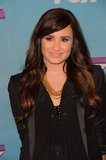 Demi Lovato wore an all-black outfit.