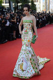 Fan Bingbing was the picture of haute couture in a colorful fishtail gown in Cannes earlier this year.
