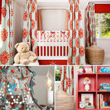 A Fab Fabric-Draped Nursery