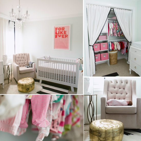 A Minty, Modern Nursery For a Baby Girl