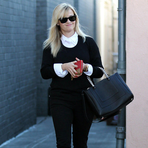 Reese Witherspoon Wearing Cap-Toe Pumps