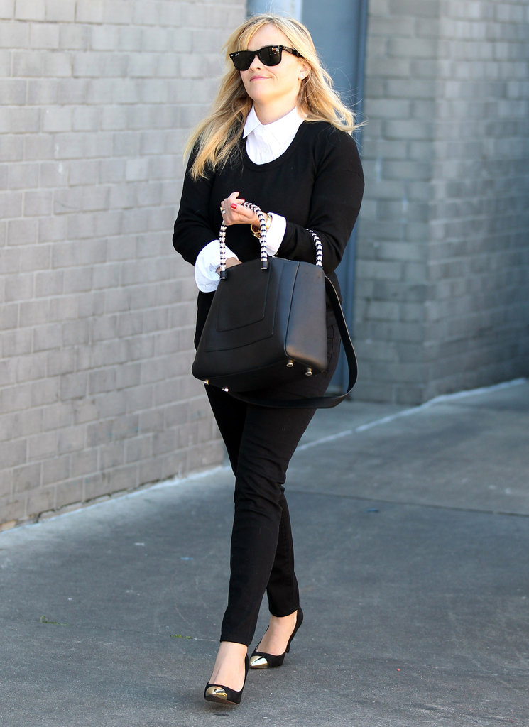 Reese Witherspoon had a smile on her face while running errands in LA.
