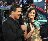 Demi Lovato waved to her fans while talking to Mario Lopez.