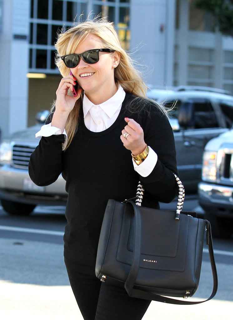 Reese Witherspoon wore a black and white outfit in LA.