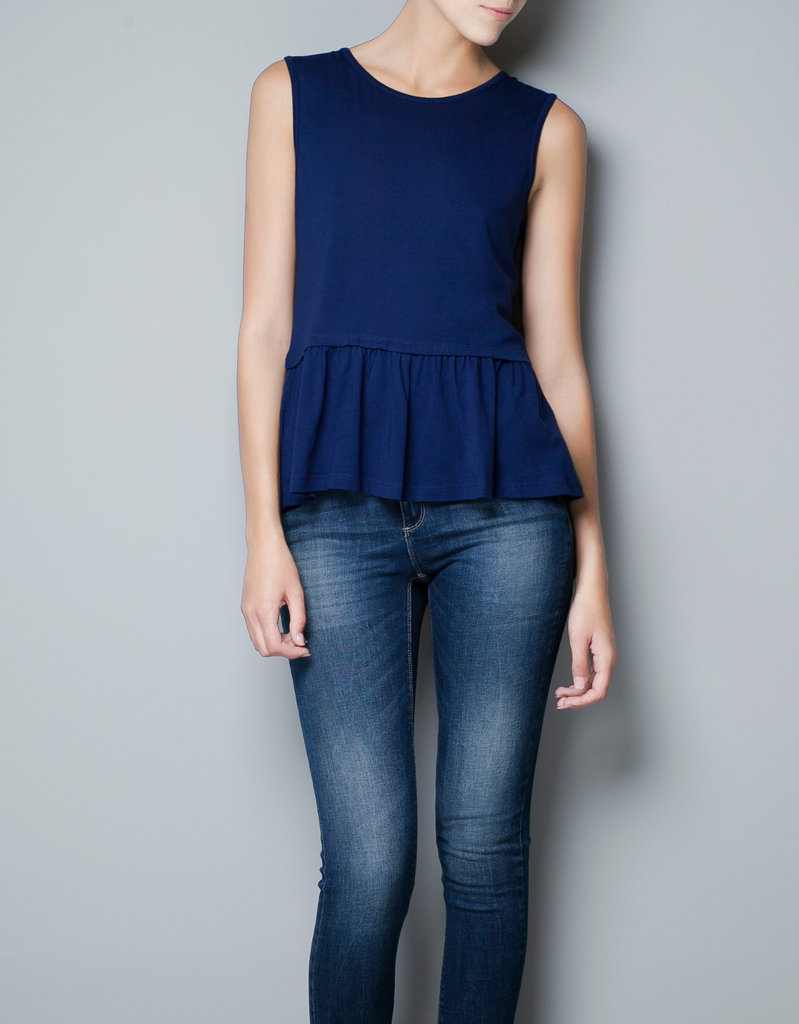 Zara Peplum Top ($10, originally $15)