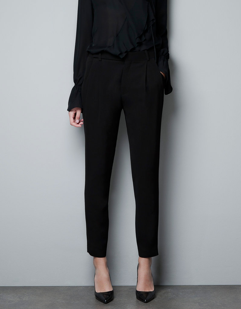 Zara Skinny Pleat Front Studio Trousers ($70, originally $90)