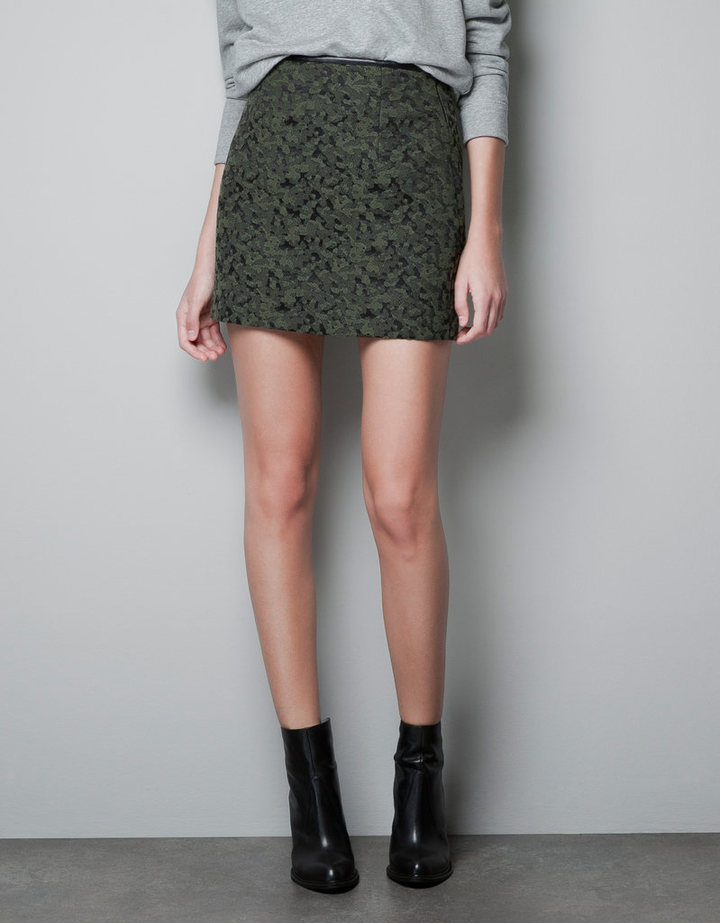 Zara Patterned Mini Skirt ($40, originally $60)