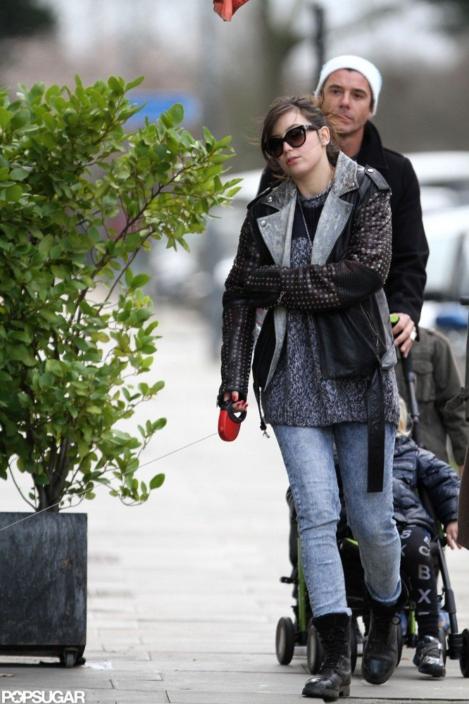 Daisy Lowe joined Gwen Stefani and Gavin Rossdale for lunch.