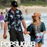 Pregnant Jessica Simpson Strolls on the Beach With Eric Johnson