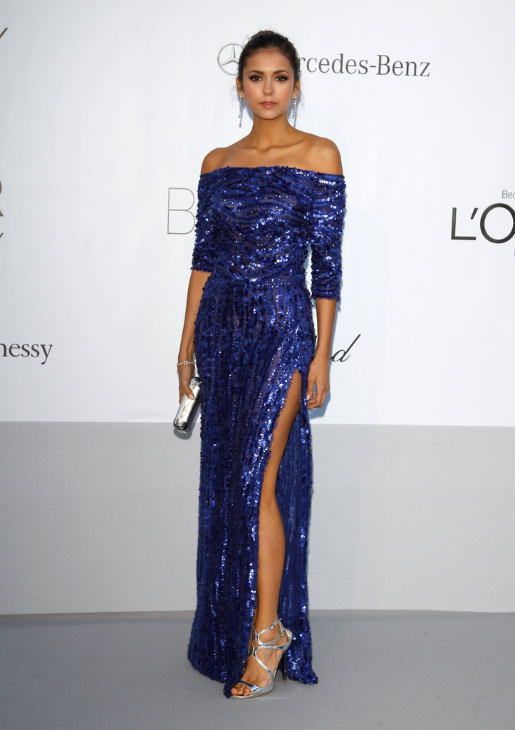 A standout moment in glittering Elie Saab at amfAR in Cannes.