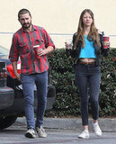Shia LaBeouf and Mia Goth hung out in LA.