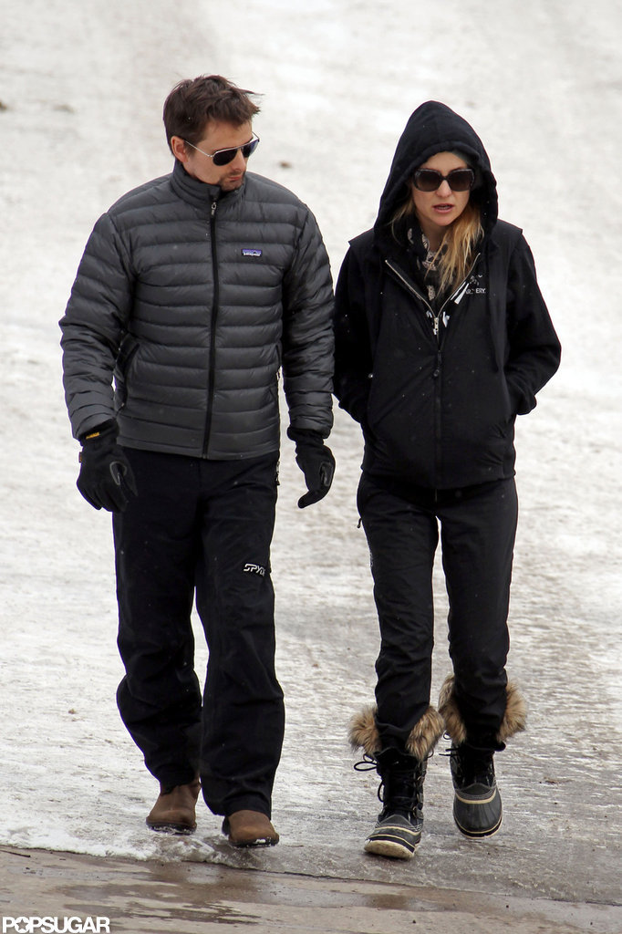 Kate Hudson and Matthew Bellamy bundled up in Aspen.