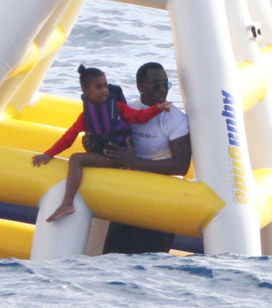 Diddy went for a St. Barts swim.