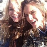 Erin Heatherton and Izabel Goulart smiled for the camera. Source: Twitter user iza_goulart
