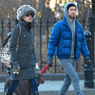 Anne Hathaway Walking Esmeralda in NYC | Pictures