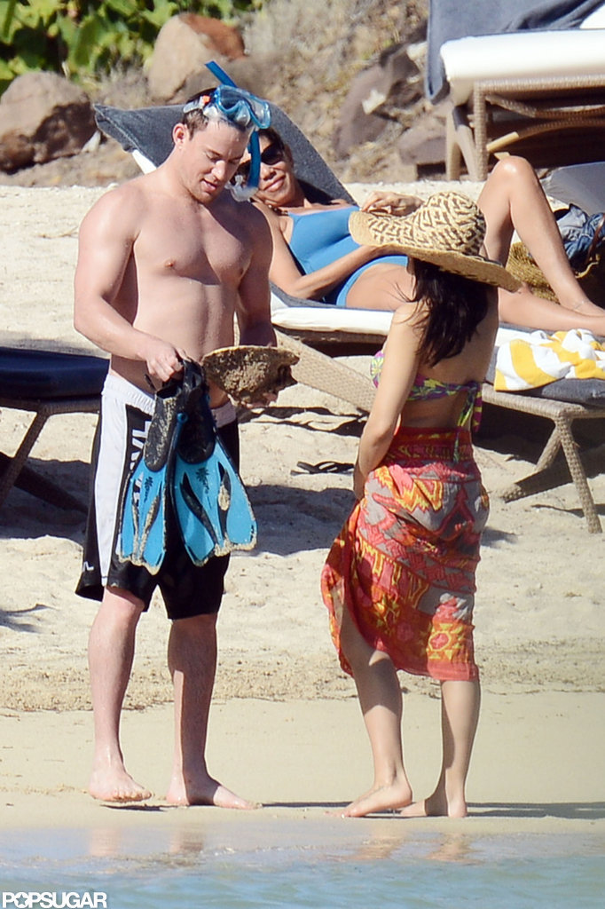 Jenna Dewan Bares Her Bump in a Bikini With Shirtless Channing Tatum