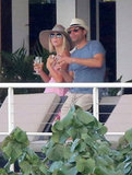 Julianne Hough and then-boyfriend Ryan Seacrest vacationed together in St. Barts during a January getaway.