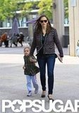 Jennifer Garner led Seraphina Affleck into a theater in LA.