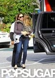 Jennifer Garner carried Seraphina Affleck to a show in LA.