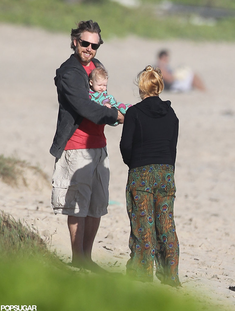 Jessica Simpson was on the beach with Eric Johnson and their daughter, Maxwell Johnson.