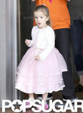 Seraphina Affleck headed into her birthday party.