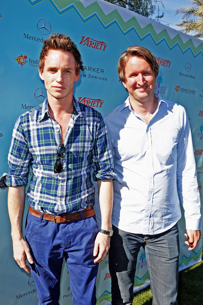 Eddie Redmayne and Tom Hooper stopped for a photo.