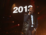Jay-Z took the stage for a New Year's Eve performance at Brooklyn's Barclays Center.