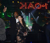Kim Kardashian had Kanye West by her side for a New Year's celebration at 1 Oak in Las Vegas.