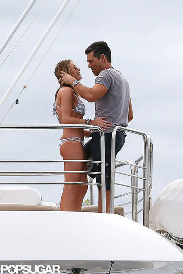 LeAnn Rimes and Eddie Cibrian lounged in the sun.
