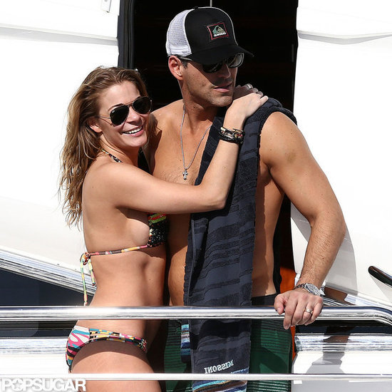 LeAnn Rimes and Eddie Cibrian showed PDA during their vacation.
