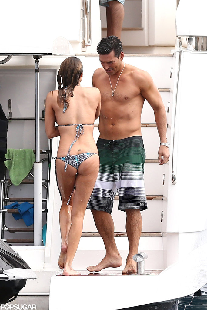 LeAnn Rimes and Eddie Cibrian went swimming.