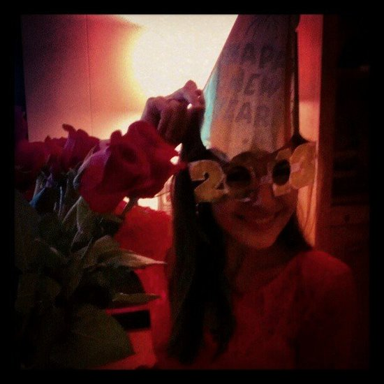 Camilla Belle got into the 2013 spirit.  Source: Instagram user camillabelle86