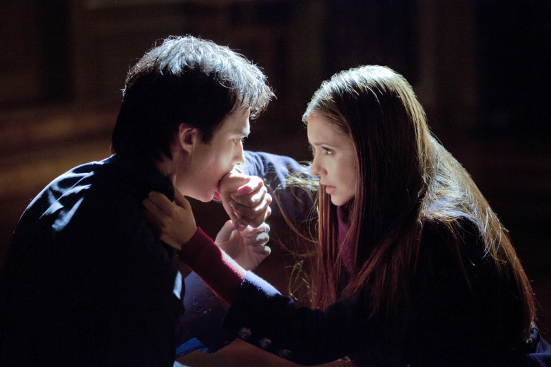 Oh look, another intense moment for Elena and Damon.