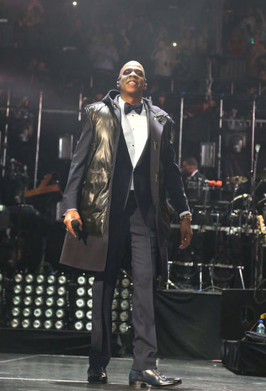 Jay-Z wore a tux to ring in the New Year.