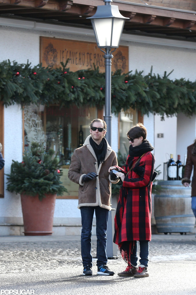 Anne Hathaway and Adam Shulman took a New Year's vacation.