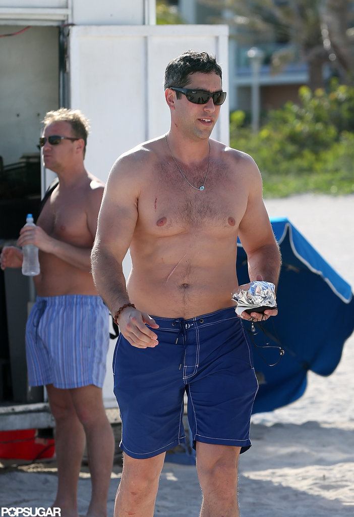 Nick Loeb went shirtless.
