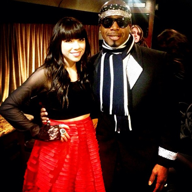 MC Hammer shared a photo of himself with Carly Rae Jepsen in Times Square. Source: Instagram user mchammer