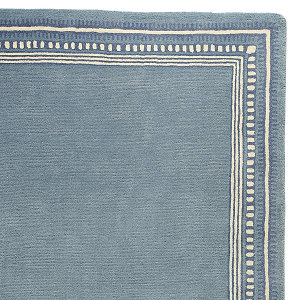 Chambray Scribble Border Rug ($195-$895)