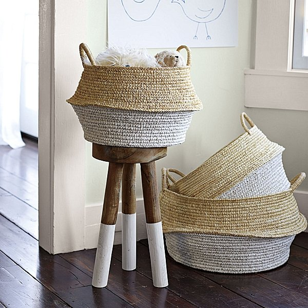 Round Belly Baskets ($48/set of two)