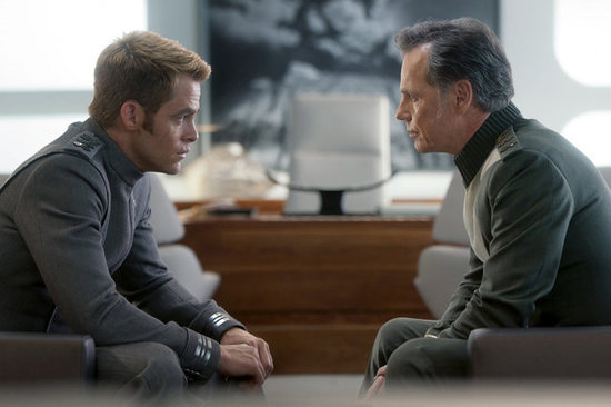 Chris Pine and Bruce Greenwood in Star Trek Into Darkness.