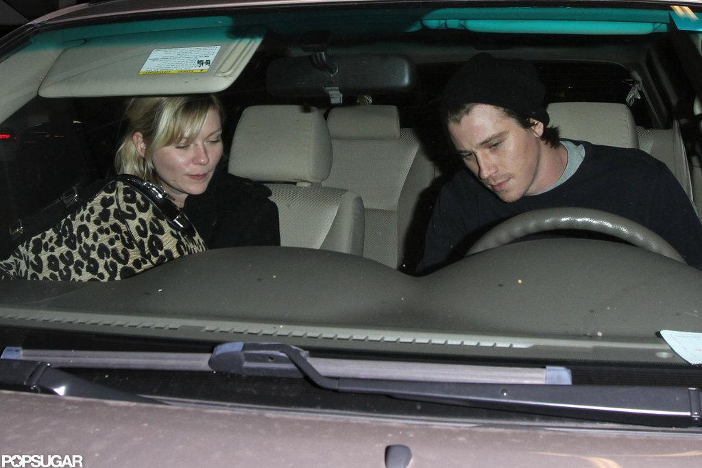 Garrett Hedlund and Kirsten Dunst went on a quiet date night in LA.